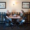 JOED VIERA/STAFF PHOTOGRAPHER-Lockport, NY- Jean Kiene and Tanya Stadelmann enjoy a meal at Donna Eick's