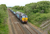 10 July 2015 :: 57301 with 20305 in T&T formation is working 7C23 from Sellafield to Barrow and is pictured near Bootle