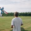 JOED VIERA/STAFF PHOTOGRAPHER-Lockport, NY- Jeffrey Liddell flys a fuel powered R/C plane at the Niagara County Radio Control Flying Field.