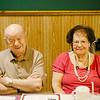 JOED VIERA/STAFF PHOTOGRAPHER-Lockport, NY-Limi Sacca and Elma Scapelliti enjoy Lockport High School's class of 1940 reunion at Cameretta's Restaurant.