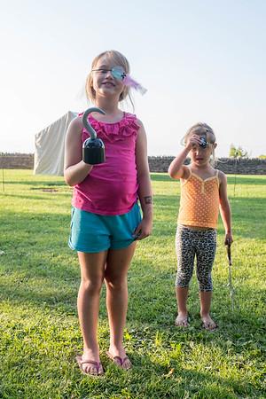 JOED VIERA/STAFF PHOTOGRAPHER-Olcott, NY-Vanessa Jordan 7 and Nichole Jordan 4 enjoy Piratesfest.