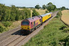 15 July 2015 :: Network Rail test train 1Q15 from Derby and back to Derby with 67008 and 67023 at the rear is pictured passing Elford