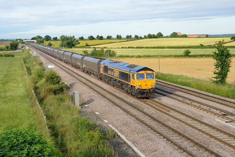 15 July 2015 :: 66716 is seen at Colton Junction working 4N44 from Doncaster to North Blyth