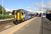 14 July 2015 :: Scotrail 156 433 is seen departing from Hexham with 1S73, the 1716 Newcastle to Glasgow Central