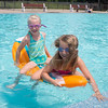 JOED VIERA/STAFF PHOTOGRAPHER-Lockport, NY-Gabby Zastrow 8 and Savannah Minnick 8 play at the Lockport Community Pool.