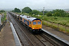 2 July 2015 :: In the rain at Pilning 66755 passes with 6A40 from Avonmouth to Pengam