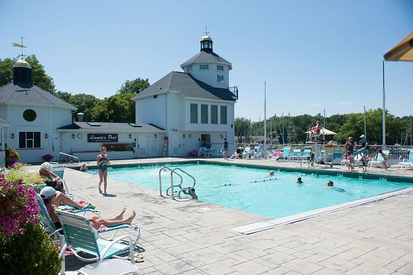 JOED VIERA/STAFF PHOTOGRAPHER Wilson, NY- Linnea's Pool.