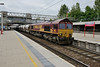 25 June 2015 :: 66063 is pictured at Stafford with 6M90 from Avonmouth to Clitheroe