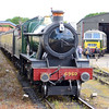 6 June 2015 ::  4-6-0 No 6960, Raveningham Hall waits to depart from Williton with a service to Minehead.  In the yard is Hymek, D7018