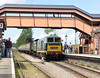 6 June 2015 :: Hymek, D7017 along with 4-6-0 No 6960, Raveningham Hall running tender first prepar to depart from Williton and the train is the 1247 Minehead to Bishops Lydeard