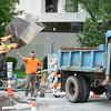 Crews continue work on main street near the big bridge.