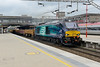 25 June 2015 :: 68009 is passing through Stafford at the head of 6U76 from Crewe to Mountsorrel