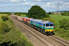 15 June 2015 :: With lovely light on 7C50 from Westbury to Whatley 59002 with 59202 are seen passing Berkely