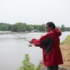 JOED VIERA/STAFF PHOTOGRAPHER-Lockport, NY-Ravi Prasad fishes on the Canal.