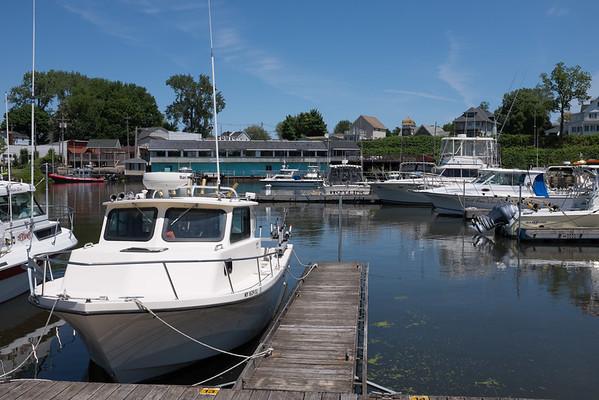 JOED VIERA/STAFF PHOTOGRAPHER-Olcott, NY-Boats are docked at the Newfane Marina