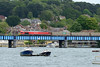 1 June 2015 :: 59204 is seen crossing the River Itchen near St Denys with 7V07, empty stone from Chichester to Merhead