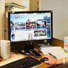 JOED VIERA/STAFF PHOTOGRAPHER-Lockport, NY-City Clerk Richelle Pasceri shows off Lockport's new website.