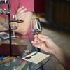JOED VIERA/STAFF PHOTOGRAPHER-Lockport, NY-Derek Von Disterlo samples wine at Flight of Five Winery.