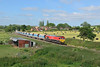 18 June 2015 :: 59205 is pictured from Frouds Lane Bridge at Aldermaston with 7A09 from Merehead to Acton