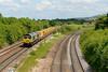 8 June 2015 :: 66599 is approaching Fairwood Junction on 6C73 from Westbury to Fairwater Yard