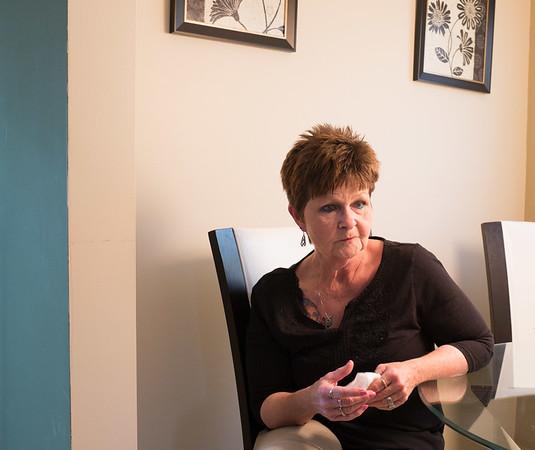 JOED VIERA/STAFF PHOTOGRAPHER-Lockport, NY-Diane McDonald speaks to US&J reporter Rikki Cason.