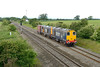 22 June 2015 :: 20305 / 309 are seen at Badgeworth with 6M56 from Berkeley to Crewe
