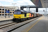 24 June 2015 :: With typical precision I lost the full light at the appropriate moment but still nice to see 60096 now in Colas livery passing through Reading Station with 6V62 from Tilbury to Llanwern