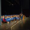 JOED VIERA/STAFF PHOTOGRAPHER-Lewiston, NY-Lockport High School students listen to speakers during their graduation ceremony at Artpark.