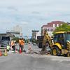 JOED VIERA/STAFF PHOTOGRAPHER-Lockport, NY-Crews continue work on Main Street near the big bridge.