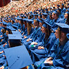 JOED VIERA/STAFF PHOTOGRAPHER-Lewiston, NY-Lockport High School students listen to speakers during their graduation ceremony at Artpark.