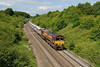 8 June 2015 :: 66108 is approaching Clink Road Junction at Frome with 6V18 from Allington to Whatley