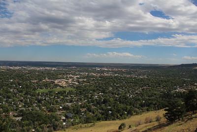Pre-wedding hike looking over Boulder