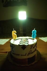 Somewhat strange Minecraft pickaxe cake