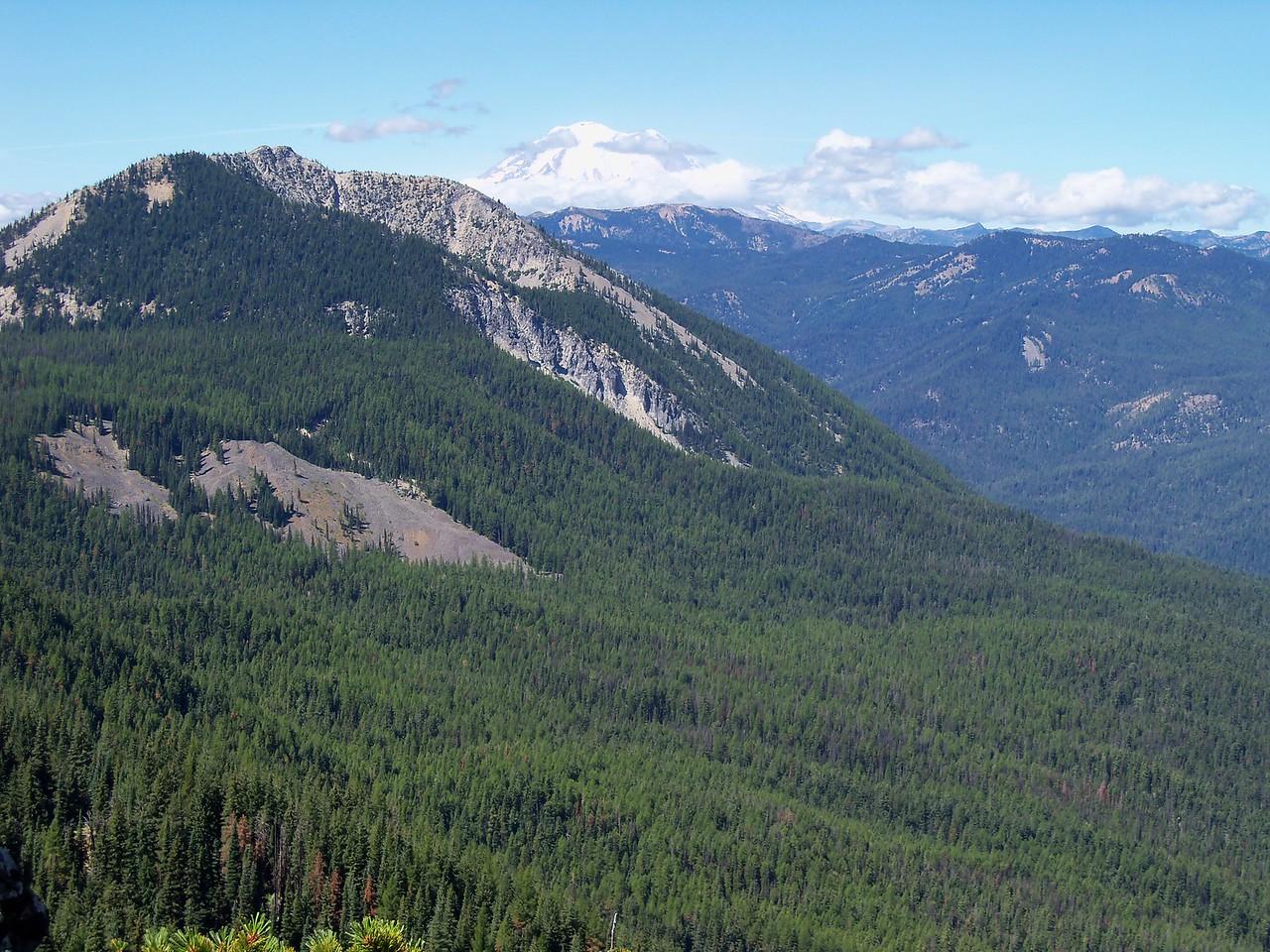 Tuesday's ride, Mt Rainier from Little Bald Mt.