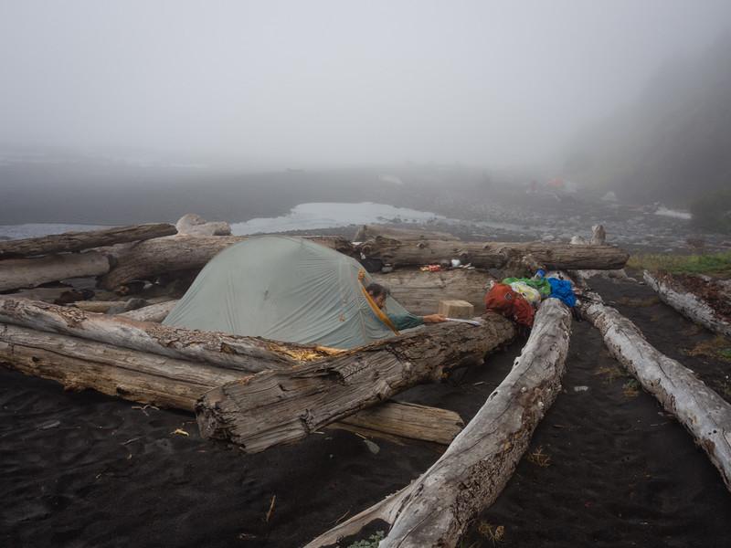 Camp, near Glitchell Creek