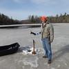 CHUCK UMHOFER ON KLEUTSCH LAKE ICE-FISHING  3/15