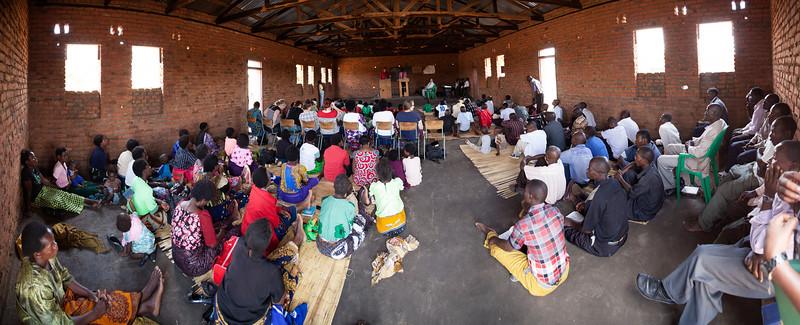 Bro. Ray preaches with Bro. Joel interpreting at Bro. Luca's church near Lilongwe.