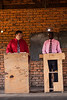 Bro. Ray preaches with Bro. Joel interpreting at Bro. Luca's church near Lilongwe.