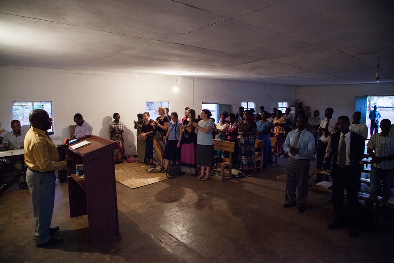 Church service with Bro. Charles' church, near downtown Lilongwe.