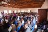 Saturday morning's service at the dedication meetings at Bro. Raphael's church in Lilongwe.