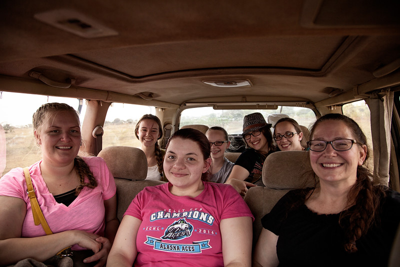 The beginning of another wonderful trip: After landing in Lilongwe the crew piled into some vans and headed to a guesthouse for some much needed rest.