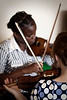 Sis. Ashley runs a few new violin players through the basics of playing the instrument.