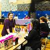 JOED VIERA/STAFF PHOTOGRAPHER- Lockport, NY-Crystal Borynski talks makeup with Mary Kay's Takoa Hogue during Lockport High School's first prom fair. Friday, March 6, 2015