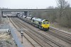 16 March 2015 :: 66524 is at Thorne Junction with 6C33, loaded coal from Humber International terminal to Eggborough Power Station