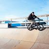 JOED VIERA/STAFF PHOTOGRAPHER- Lockport, NY-Travis Farnsworth grinds at the Lockport Skate Park. Thursday, March 12, 2015