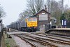 "16 March 2015 :: A Class 47 working a mainline freight was the attraction to the area!  47843 ""Vulcan"" had been pressed into action on the GBRf 4D95 working gypsum wagons from Hull to Doncaster and is seem passing the derelict signal box at Howden"