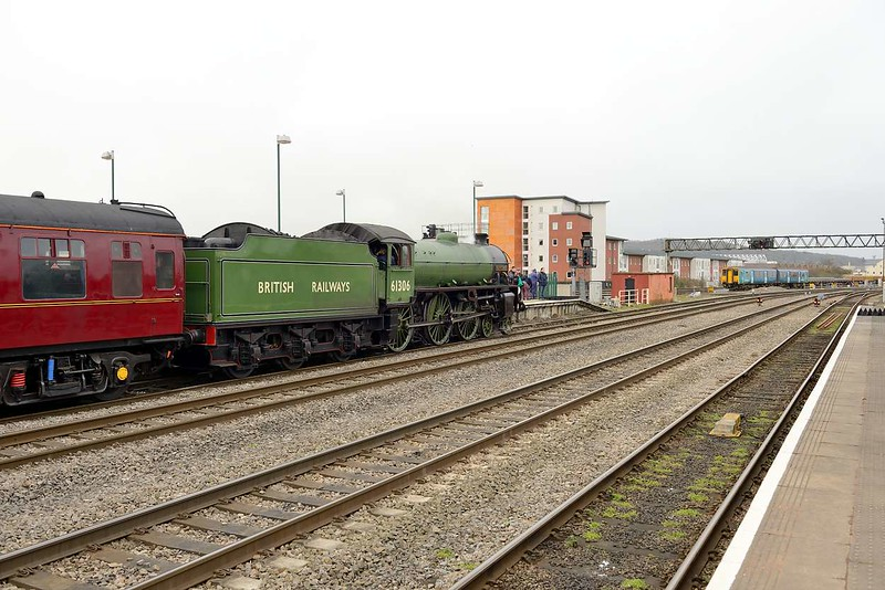 1 March 2015 :: LNER B1 Class 4-6-0 no 61306 Mayflower has just arrived at Cardiff Central after working 1Z61 the Saint Davids Day Cathedrals Express from Paddington to Cardiff