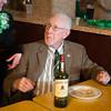 JOED VIERA/STAFF PHOTOGRAPHER- Lockport, NY-John Harrington won a bottle of Jameson Irish Whiskey during the St Patrick's Day celebration at the American Legion. Tuesday, March 17, 2015.