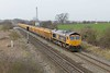 11 March 2015 :: Seen near The Reddings, Cheltenham is 66716 with 6M25 from Westbury to Stud Farm