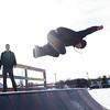 JOED VIERA/STAFF PHOTOGRAPHER- Lockport, NY-Matt Gagliardi catches some air at the Lockport Skate Park. Thursday, March 12, 2015
